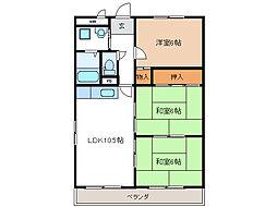 ルーミー21[3階]の間取り