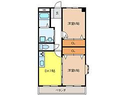 マンション1stMu[2階]の間取り