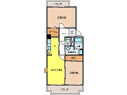 エスポワール清風 弐番館[3階]の間取り