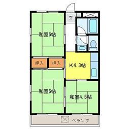 レジデンス柿沢[4階]の間取り