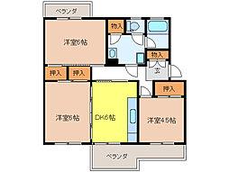 UR賃貸6棟[4階]の間取り