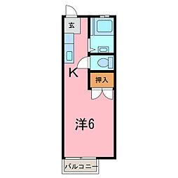 アルファメゾンB[2階]の間取り