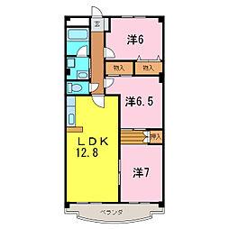 GハウスLavie[4階]の間取り