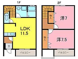 [テラスハウス] 愛知県高浜市神明町2丁目 の賃貸【愛知県 / 高浜市】の間取り