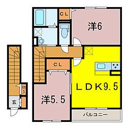 ベルドミール下松[2階]の間取り