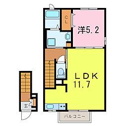 フォレストライト藤[2階]の間取り