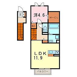 ラ・クレール[2階]の間取り