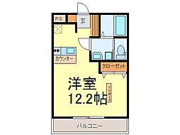 茨城県古河市上辺見の賃貸アパートの間取り