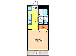 ハイネス本荘[201号室]の間取り