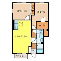 ブライト・ハウス I・II[1101号室]の間取り