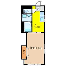 スワローハウス[301号室]の間取り