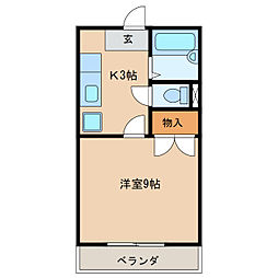 コーポドリーム[1階]の間取り