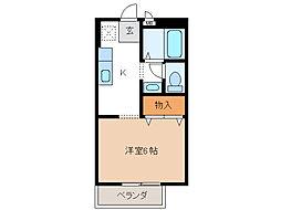 セレクトONE A[1階]の間取り
