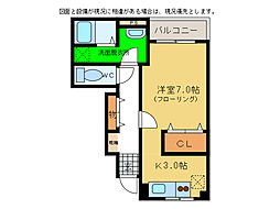 プレアヴェニューC[1階]の間取り