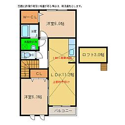 クレセント I・II・III[2階]の間取り
