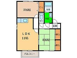 サンステージ小松島II[201号室]の間取り