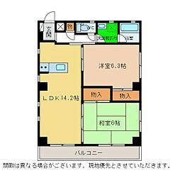 リライアンス21[1階]の間取り