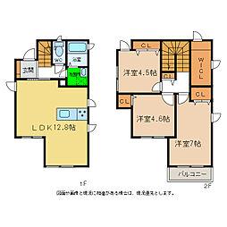 [一戸建] 徳島県徳島市八万町橋本 の賃貸【/】の間取り