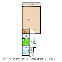 ピース・スクエア羽ノ浦A[103号室]の間取り