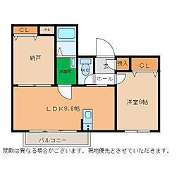 ピース・スクエア小松島[101号室]の間取り