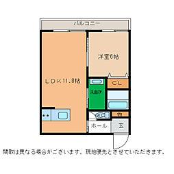 ピース・スクエア小松島[305号室]の間取り