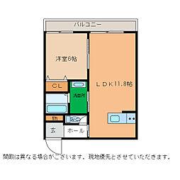 ピース・スクエア小松島[307号室]の間取り