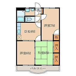 今坂マンションA棟[1階]の間取り