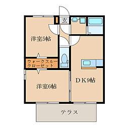 Ist-Garden A棟[1階]の間取り
