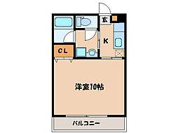 カピーレ西原[3階]の間取り