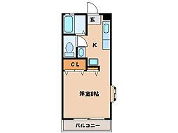 サムシング22[2階]の間取り