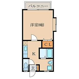 エムハイツB棟[1階]の間取り