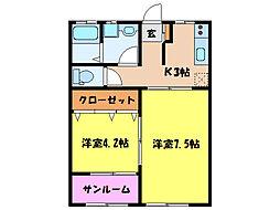 フォレストコート[1階]の間取り