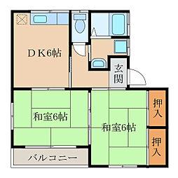 コーポ藤崎[1階]の間取り