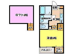 YURI−NA鹿屋[2階]の間取り