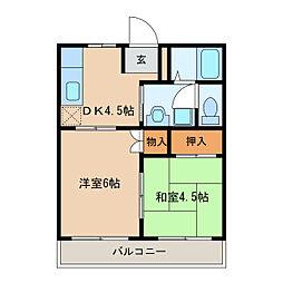 スカイマンション[3階]の間取り