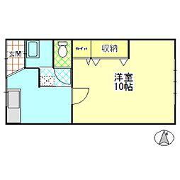 コーポ御舘[1階]の間取り