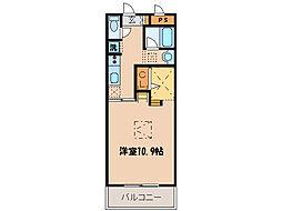 埼玉県東松山市箭弓町1丁目の賃貸マンションの間取り