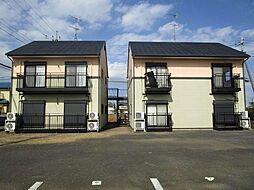 茨城県つくば市大角豆の賃貸アパートの外観