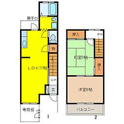 タウンハウス仏生寺[1階]の間取り
