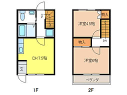 Rハウス仏生寺[1階]の間取り