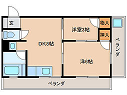 コーポマルセン[4階]の間取り