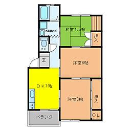 加藤ビルI[3階]の間取り