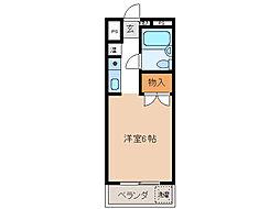 NOA・松野[4階]の間取り