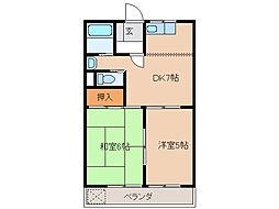 エンドレスASANO[2階]の間取り