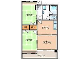 トヨダハイビル[305号室]の間取り