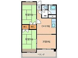 トヨダハイビル[4階]の間取り