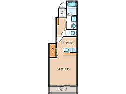 クロスローズ弐番館[1階]の間取り