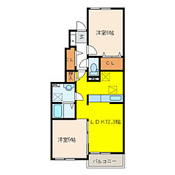 プライムガーデンA[1階]の間取り