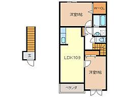 ソンリッサII[2階]の間取り