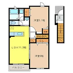 ラ・ルーチェ III[2階]の間取り
